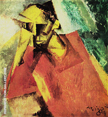 Portrait of a Tragic Being 1920 By Lyonel Feininger