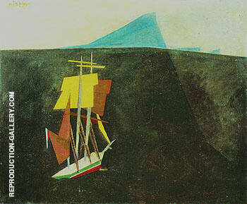 Reproduction of The Blue Island 1934 by Lyonel Feininger | Oil Painting Replica On CanvasReproduction Gallery