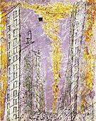 Manhattan Dawn 1944 By Lyonel Feininger