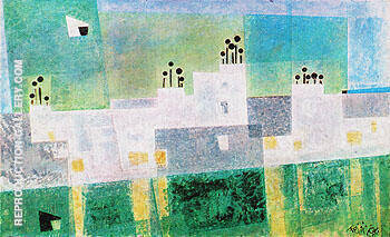 Chimney Pots 1951 By Lyonel Feininger