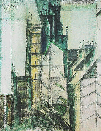 Rue St Jacques Paris 1953 By Lyonel Feininger - Oil Paintings & Art Reproductions - Reproduction Gallery