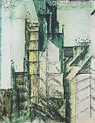 Rue St Jacques Paris 1953 By Lyonel Feininger