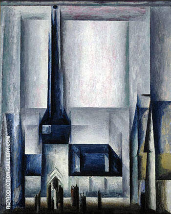Gelmeroda IX Painting By Lyonel Feininger - Reproduction Gallery