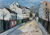 A Street in a Suburb of Paris 1912 By Maurice Utrillo