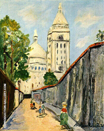 Basilica By Maurice Utrillo Replica Paintings on Canvas - Reproduction Gallery