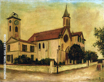 Beaulieu Church Painting By Maurice Utrillo - Reproduction Gallery