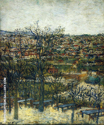 Benches at Montmagny 1906 By Maurice Utrillo Replica Paintings on Canvas - Reproduction Gallery