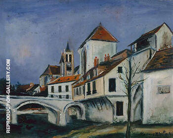 Reproduction of Bridge and Church by Maurice Utrillo | Oil Painting Replica On CanvasReproduction Gallery