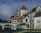 Bridge and Church By Maurice Utrillo