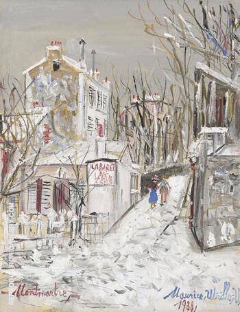 Cabaret Le Lapin Agile 1938 By Maurice Utrillo Replica Paintings on Canvas - Reproduction Gallery