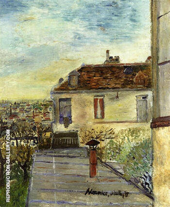Chaudoin House By Maurice Utrillo - Oil Paintings & Art Reproductions - Reproduction Gallery