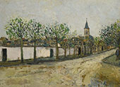 Church and Street in Montmagny 1908 By Maurice Utrillo