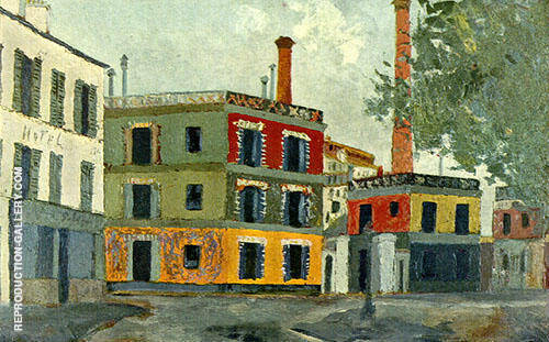 Reproduction of Factory by Maurice Utrillo | Oil Painting Replica On CanvasReproduction Gallery