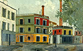 Factory By Maurice Utrillo