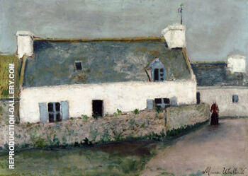 Farm on L'lle d'Ouessant 1910 By Maurice Utrillo
