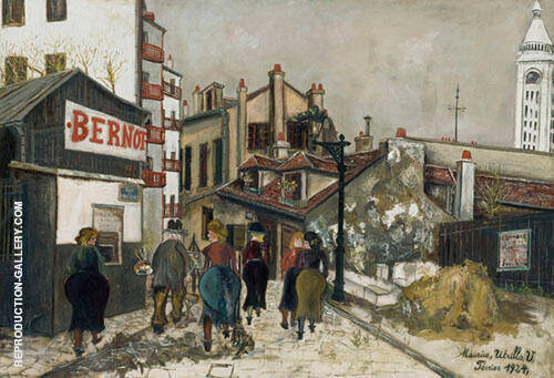 La Maison Bernot 1924 By Maurice Utrillo Replica Paintings on Canvas - Reproduction Gallery