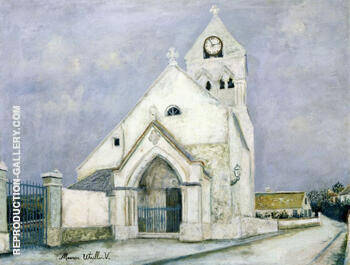 Reproduction of La Petite Communiante Eglise De Deuil 1912 by Maurice Utrillo | Oil Painting Replica On CanvasReproduction Gallery
