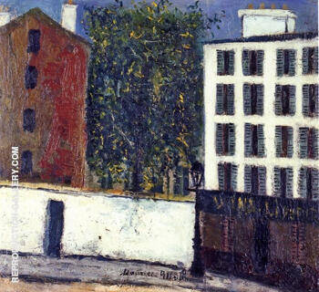 Montmartre Street 1912 By Maurice Utrillo Replica Paintings on Canvas - Reproduction Gallery