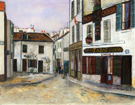 Mother Catherines Restaurant in Montmatre 1917 By Maurice Utrillo