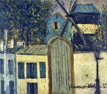 Moulin De La Galette 1912 By Maurice Utrillo Replica Paintings on Canvas - Reproduction Gallery