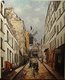 Moulin De La Galette c1908 By Maurice Utrillo