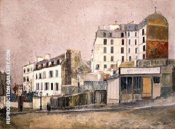 Paris Rue Ravignan 1913 By Maurice Utrillo
