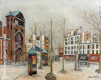 Place Des Abbesses 1931 By Maurice Utrillo