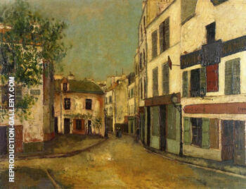 Place Du Tertre in Montmartre 1910 By Maurice Utrillo