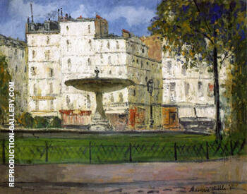 Place Pigalle 1910 By Maurice Utrillo