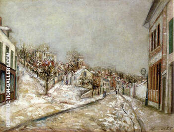 Pontoise 1912 Painting By Maurice Utrillo - Reproduction Gallery