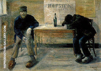 The Drunkards 1882 Painting By James Ensor - Reproduction Gallery