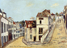 Pontoise Rue De I'Eperon and Rue de la Coutellerie 1914 By Maurice Utrillo