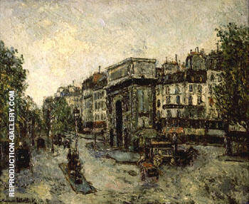 Porta Saint Martin in Parigi 1908 By Maurice Utrillo