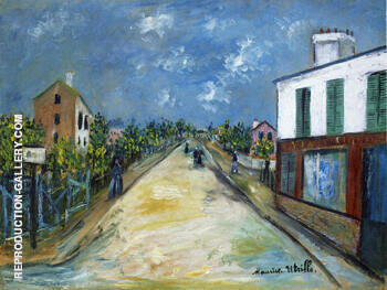 Road in Argenteuil Val d'Oise 1914 By Maurice Utrillo Replica Paintings on Canvas - Reproduction Gallery