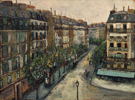 Rue Custine a Montmartre 1909 By Maurice Utrillo
