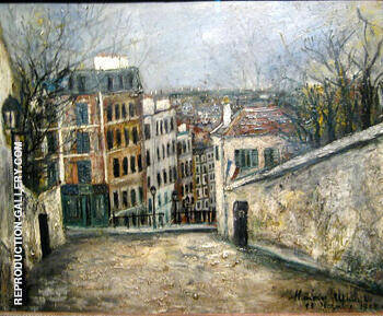 Reproduction of Rue Du Mont-Ceris 1914 by Maurice Utrillo | Oil Painting Replica On CanvasReproduction Gallery
