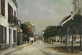 Moutier Street and the Mairie Square at Villejuif 1915 By Maurice Utrillo