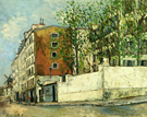 Rue Orchampt in Montmartre 1910 By Maurice Utrillo