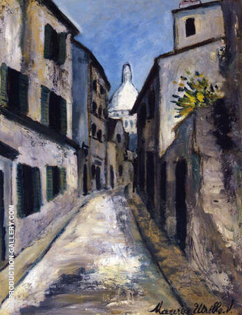 Rue Saint Rustique 1910 Painting By Maurice Utrillo - Reproduction Gallery