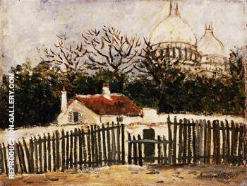Sacre Coeur B Painting By Maurice Utrillo - Reproduction Gallery
