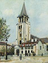 St Germain Des Pres Paris 1917 By Maurice Utrillo