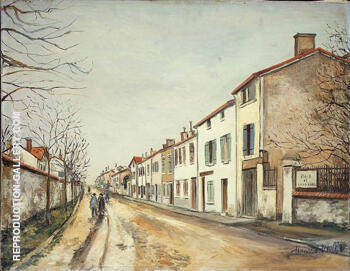 Suburban Street Scene 1910 By Maurice Utrillo Replica Paintings on Canvas - Reproduction Gallery