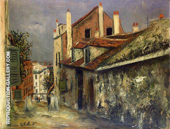 The House of Mimi Pinson in Montmartre 1915 By Maurice Utrillo