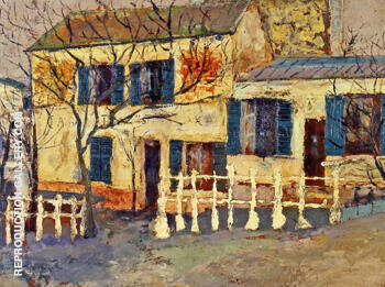 The Lapin Agile 1912 By Maurice Utrillo Replica Paintings on Canvas - Reproduction Gallery