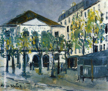 The Theatre de I Atelier 1913 By Maurice Utrillo