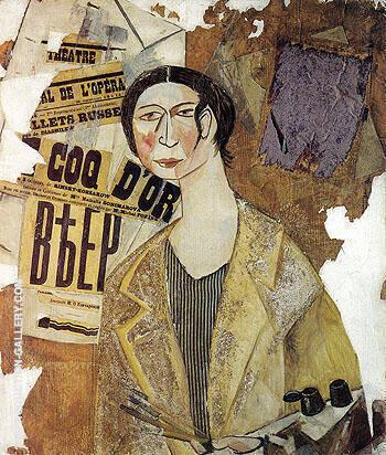 Portrait of Natalia Goncharova 1915 By Natalia Goncharova