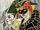 Pierrot and Colombina 1906 By Natalia Goncharova
