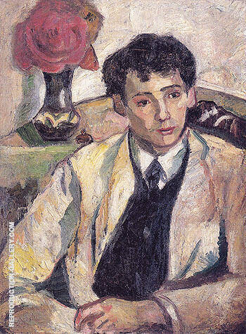 Portrait of the Artists Brother Afanasy Goncharova 1905 By Natalia Goncharova - Oil Paintings & Art Reproductions - Reproduction Gallery