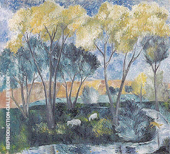 Autumn Landscape 1905 By Natalia Goncharova - Oil Paintings & Art Reproductions - Reproduction Gallery