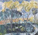 Autumn Landscape 1905 By Natalia Goncharova
